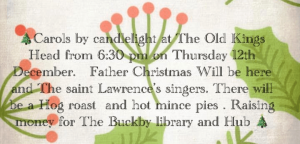 Carols by Candlelight at The Old Kings Head