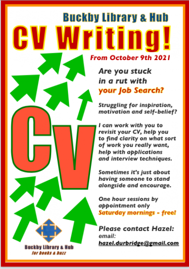 CV Help – did you know we are hosting free sessions on Saturday mornings?